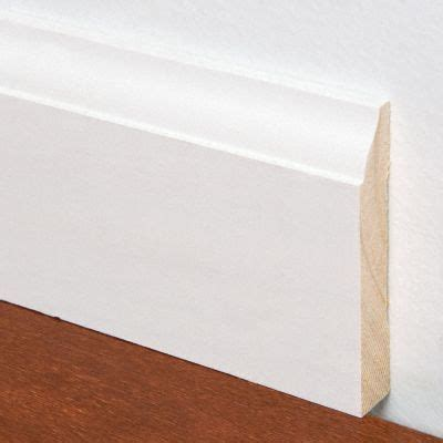 1 Inch Lumber For Floor And Wall Trim by 1 2 Quot X 5 1 4 Quot X 8 White Colonial Baseboard Lumber