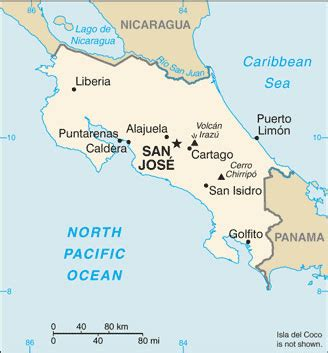 costa rica map with cities costa rica map with cities free pictures of country maps