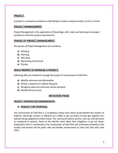 Bathroom Remodel Project Plan Template cafe construction project report