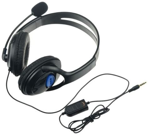 Headset Sony M Dual black dual big ear wired gaming chat headset headphone microphone for sony playstation 4