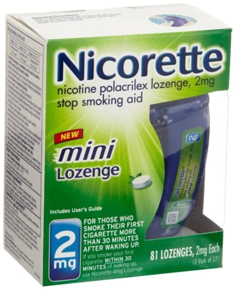 Detox From Nicotine Lozenges by Best Buy Nicorette Mini Lozenge 2 Mg 81 Count Package