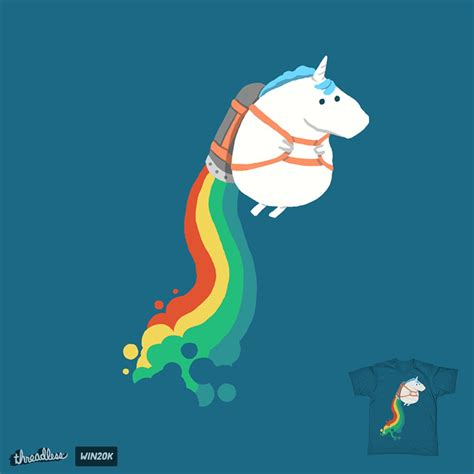 Cool Unicorn unicorn on rainbow jetpack a cool t shirt by