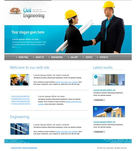 free templates for engineering website tie up css template 4352 construction engineering