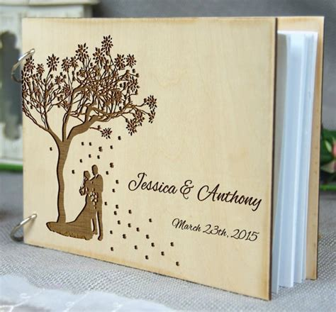 Personalized Wedding Anniversary Bridal Shower Guest Book