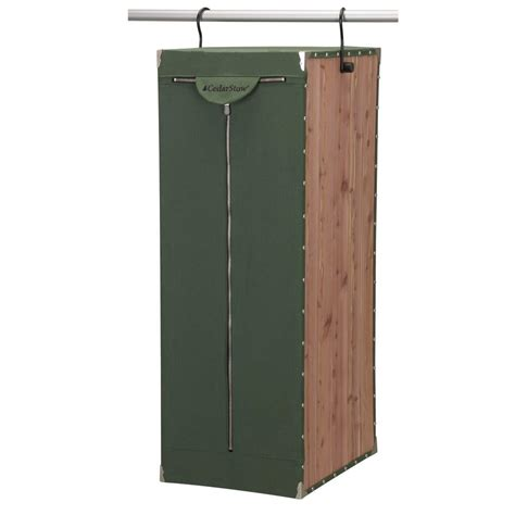 Green Canvas Wardrobe - household essentials eastern cedar green