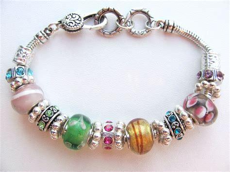 glass bead bracelet summer colors murano glass bead bracelet pandora style