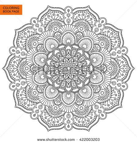mandala coloring pages vector anti stress mandala stock vectors vector clip