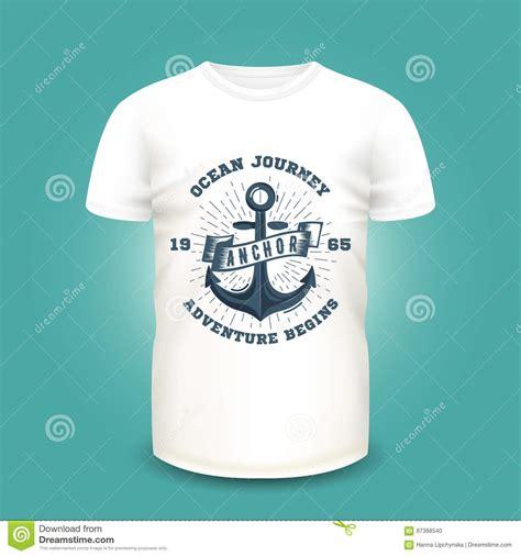 design label shirt nautical t shirt label design with illustration of anchor