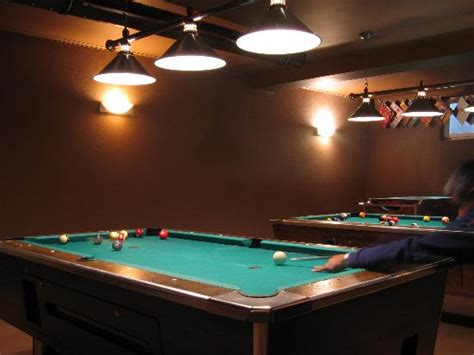 the pool tables in the sports bar picture of hotel tulpe