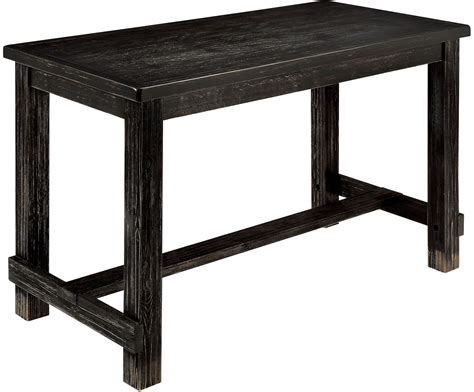 sania ii antique black counter height dining table