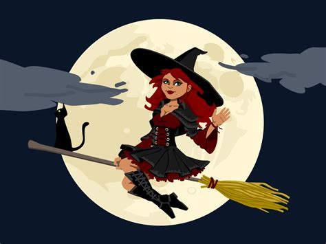 cartoon witch backgrounds for powerpoint ppt backgrounds