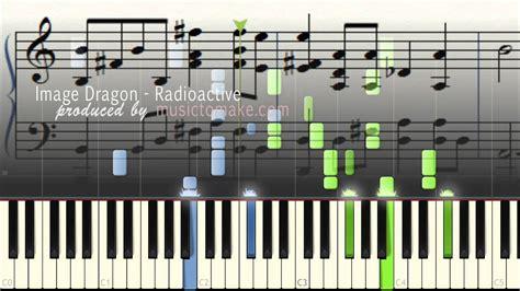 tutorial piano radioactive imagine dragons radioactive music sheets piano