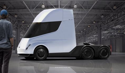 tesla semi truck with crew cabin brought to in