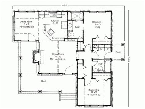 two small house plans simple two bedrooms house plans for small home