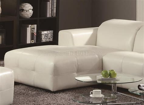 Darby Sectional Sofa 503617 White Bonded Leather Match Coaster Sectional Sofa