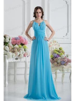 baby blue floor l empire straps ruching baby blue floor length chiffon prom