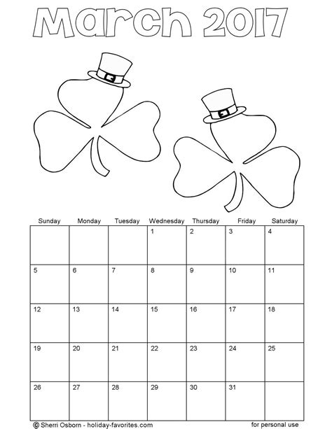 march coloring pages printable march 2016 calendarsholiday favorites