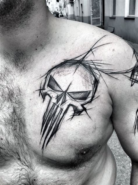 60 sketch tattoos for men artistic design ideas