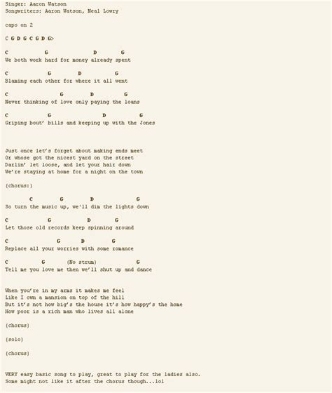 Dance With Me Guitar Chords