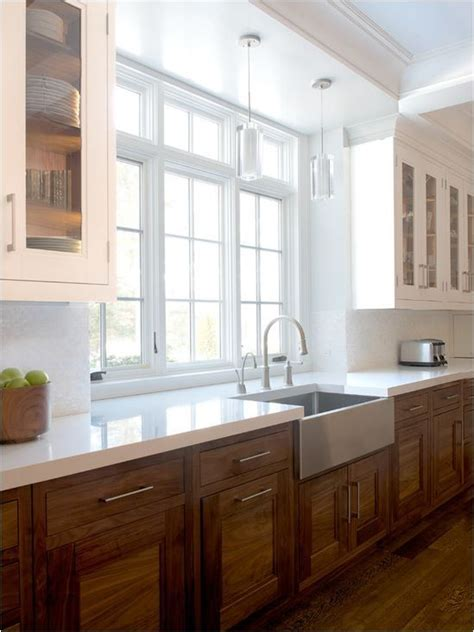 white and wood cabinets 15 cool wood cabinets ideas for rustic kitchens shelterness