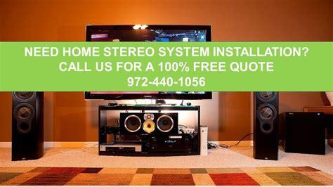 home stereo system installation dallas tx