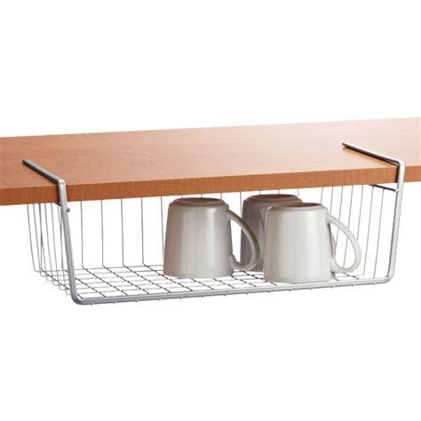 under cabinet basket storage polytherm undershelf baskets the container store