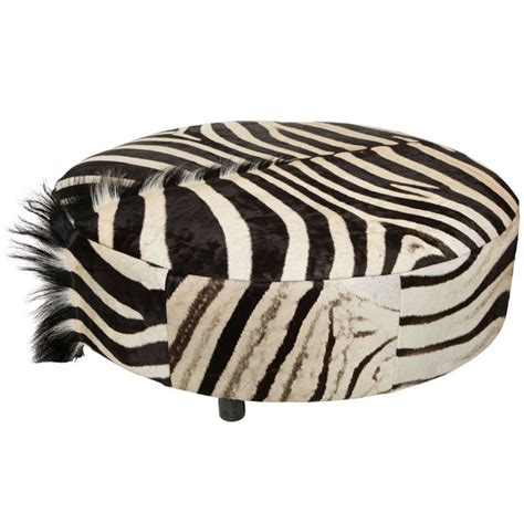 animal ottomans zebra ottoman at 1stdibs