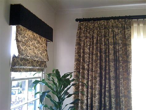 Window Box Curtains Custom Pleated Shade With Cornice Box Valance And Pinch Pleat Drapery Jacoby Company