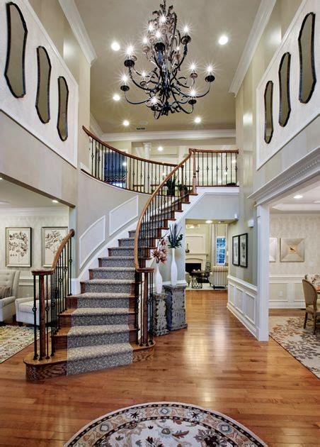toll brothers  story foyer  curved staircase