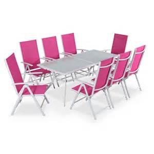 table de jardin en aluminium naevia de leroy merlin