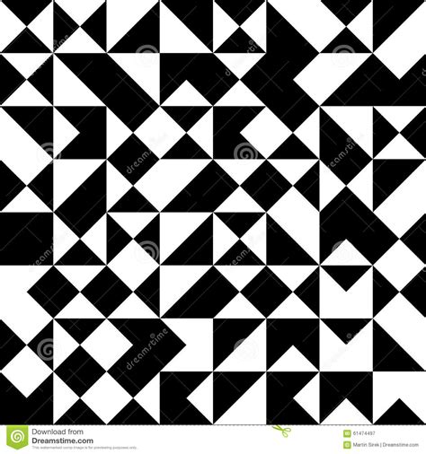 geometric pattern random vector modern seamless geometry pattern random triangle