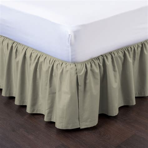 detachable bed skirts ashton detachable ruffled bed skirt ensemble shopbedding com