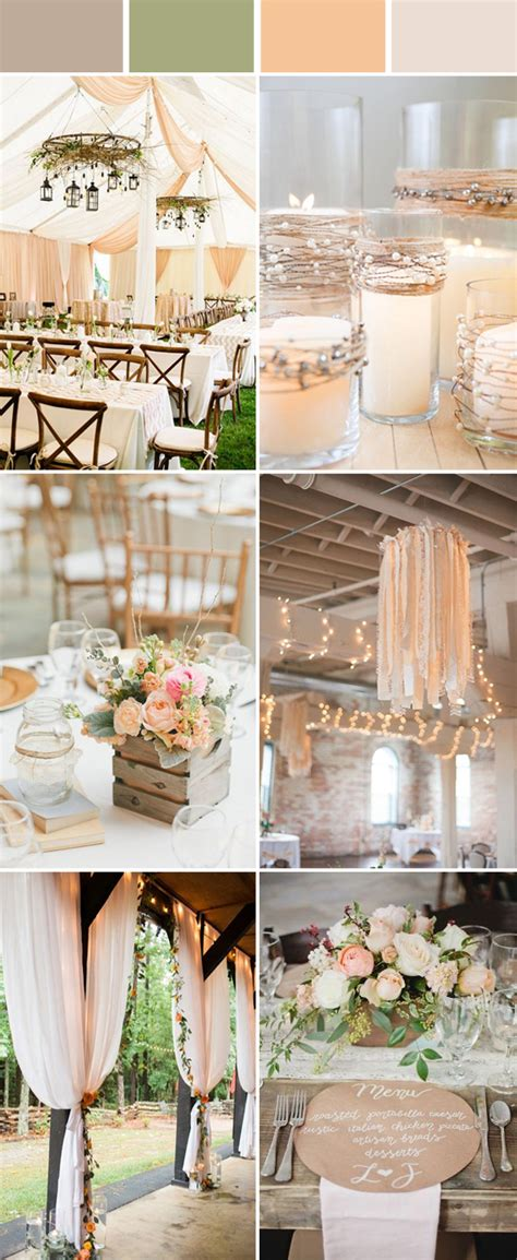 rustic wedding colors top 10 and chic rustic wedding color ideas