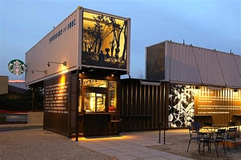 drive and shop green design this coffee shop is made from reclaimed