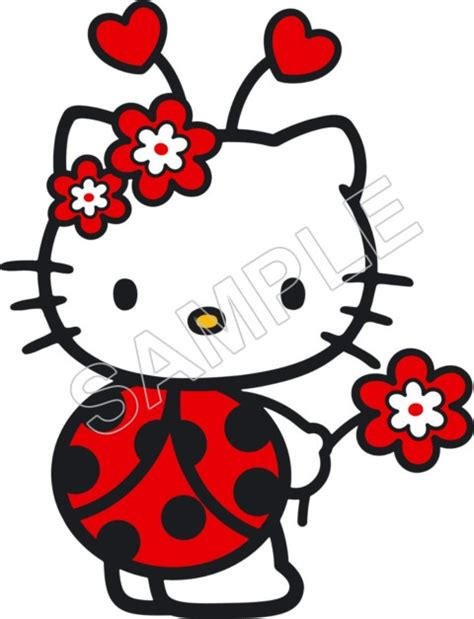 hello kitty ladybug coloring pages sheriff callie iron on transfer for quilt party