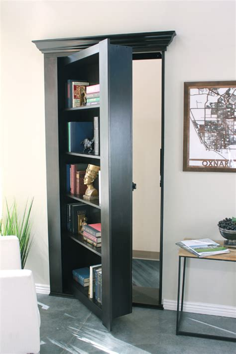 bookshelves doors secure secret bookcases mirror doors