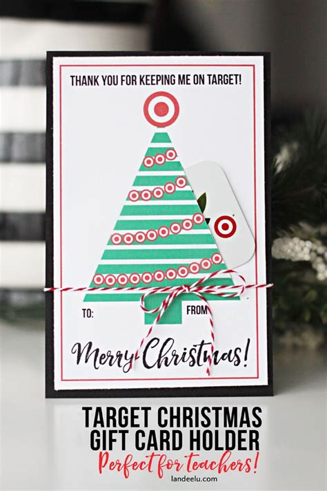 teacher gift for christmas target gift card holder free