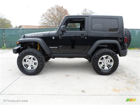 2010 Jeep Wrangler Rubicon 4x4 Custom Wheels Photo