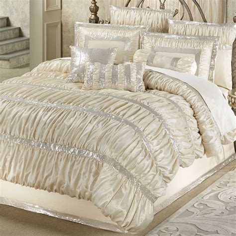silk bedding radiance shirred faux silk comforter bedding