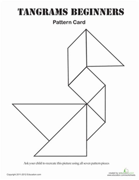 new year tangram activities easy tangrams puzzle 1 worksheet education