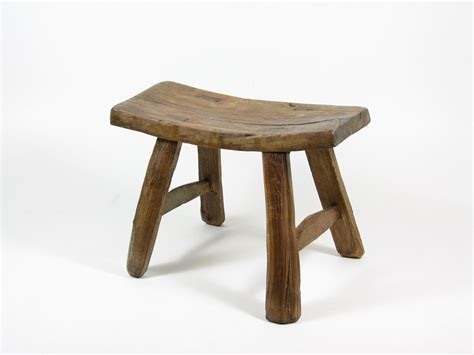 Wooden Stool by Vintage Wooden Stool Primitive Wood Footstool Wood