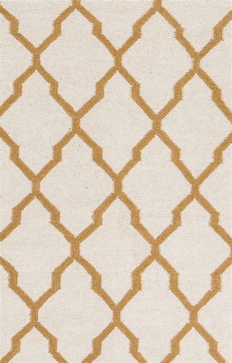 Quatrefoil Area Rug Swing Quatrefoil Trellis Wool Area Rug In Light Gold 3 X 5