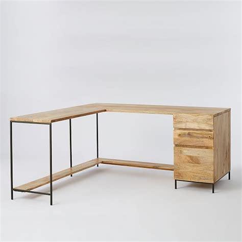 modular office desks industrial home industrial modular desk set west elm