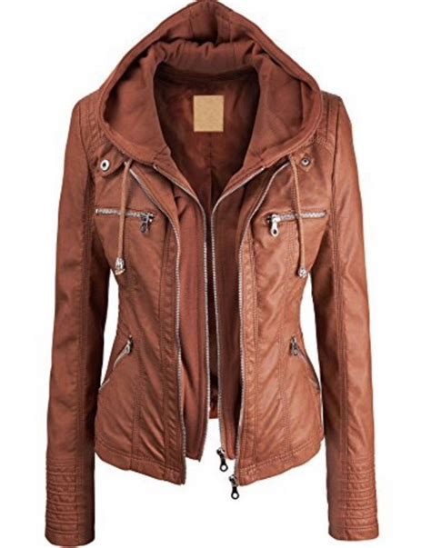 Light Brown Outerwear jacket light brown leathe outerwear brown brown