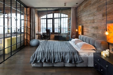 industrial style loft 20 industrial bedroom designs decorating ideas design