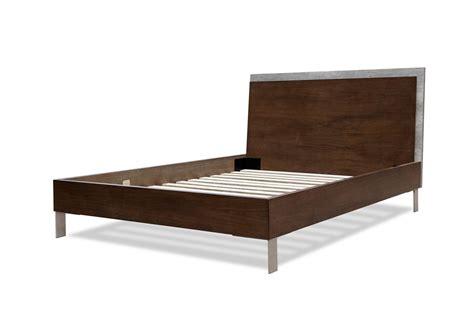 domus modern walnut concrete bed