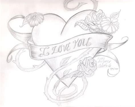 Cool I You Drawings cool drawings roses i u drawing drawings
