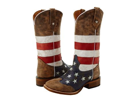 american flag boots roper american flag square toe boot at zappos