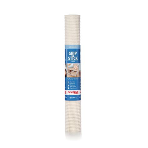 Con Tact Shelf Liner by Con Tact Grip N Stick White Shelf Drawer Liner Set Of 6