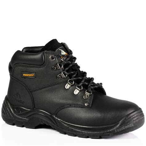 mens safety steel toe work industrial outdoor lace up